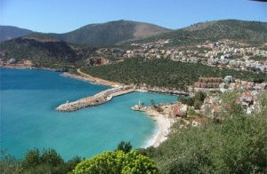 Kalkan, a small peaceful Mediterranean resort and fishing town